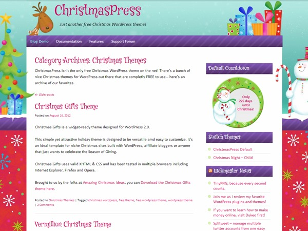 ChristmasPress WP template