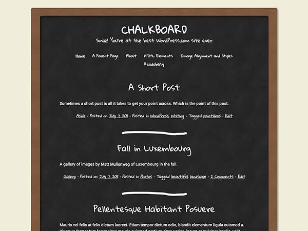 Classic Chalkboard theme WordPress