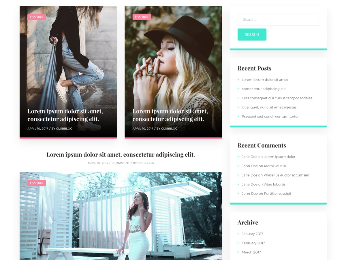 ClubBlog theme WordPress free