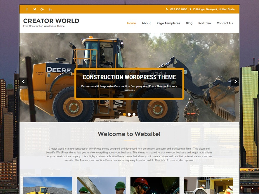 Creator World WordPress theme image