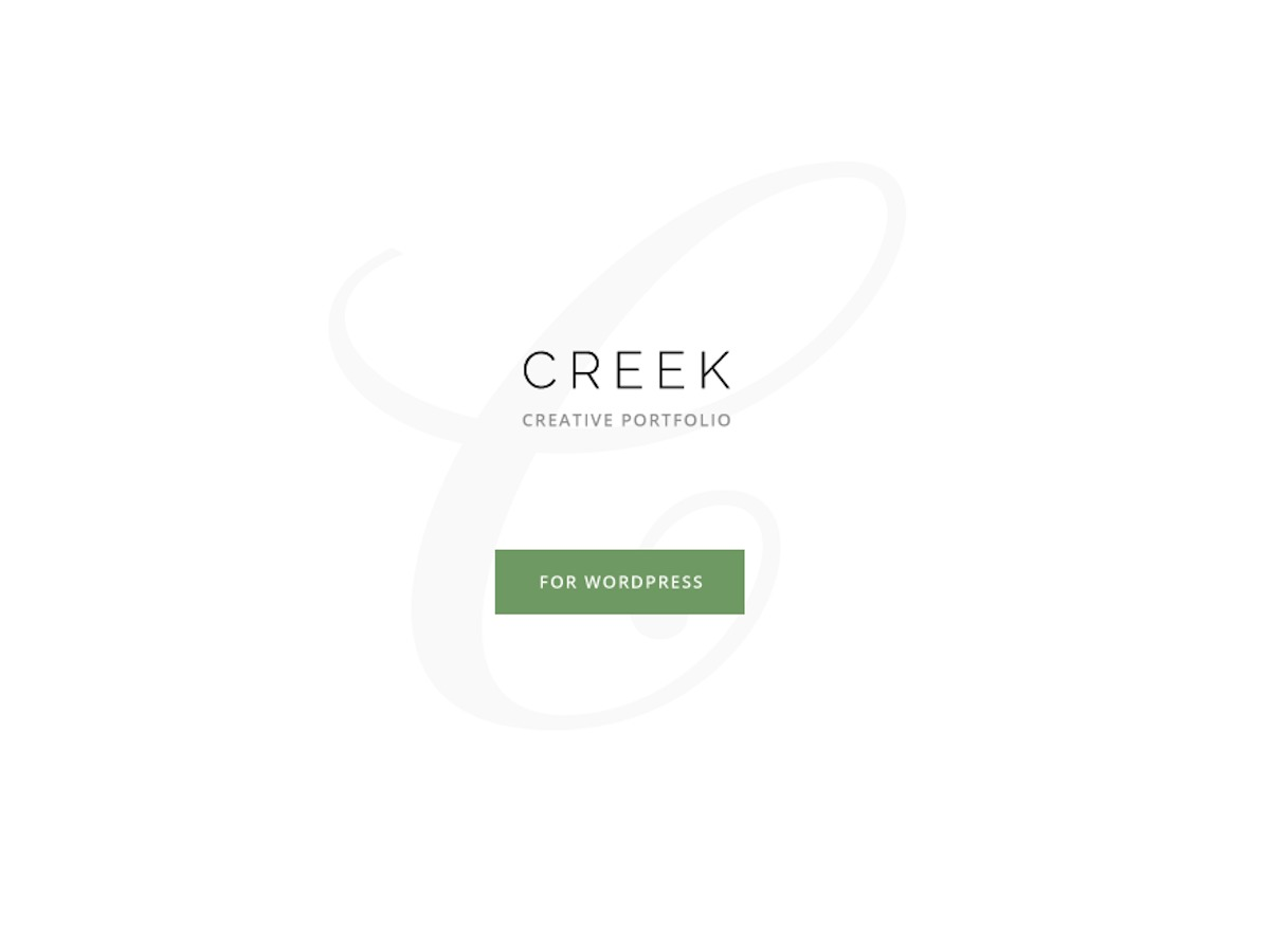 Creek WordPress portfolio theme