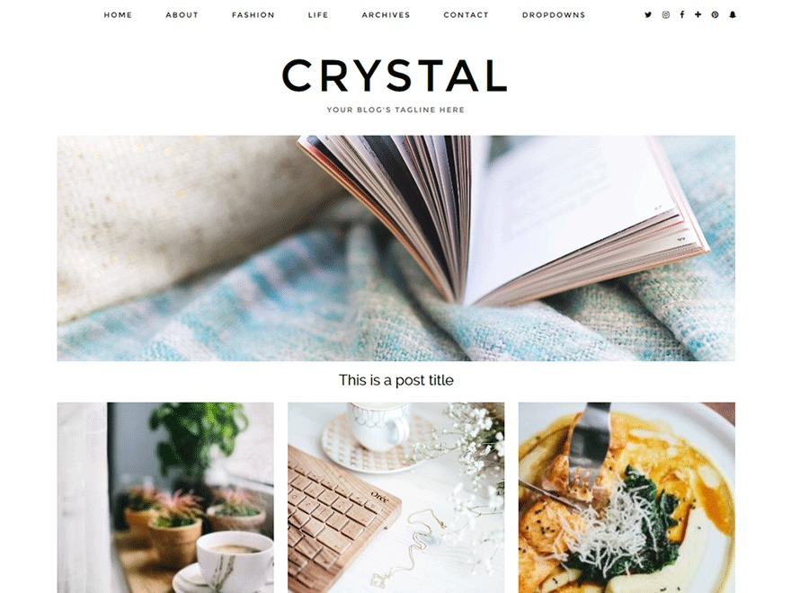 Crystal (pipdig) WordPress page template