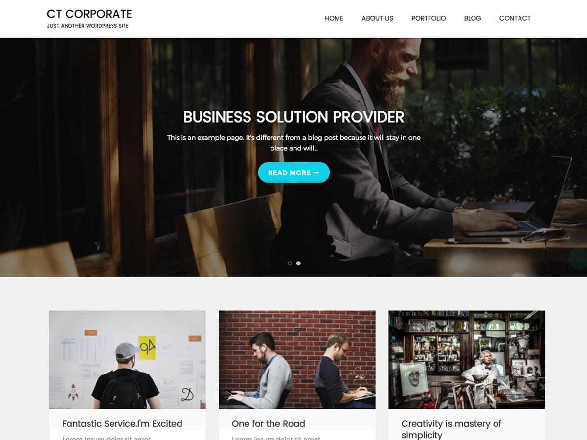 CT Corporate free WordPress theme