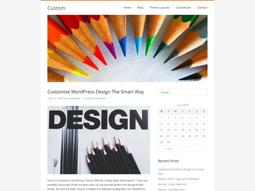 Custom WordPress template