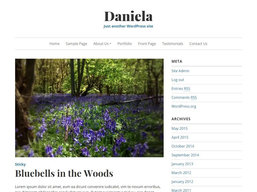 Daniela best portfolio WordPress theme