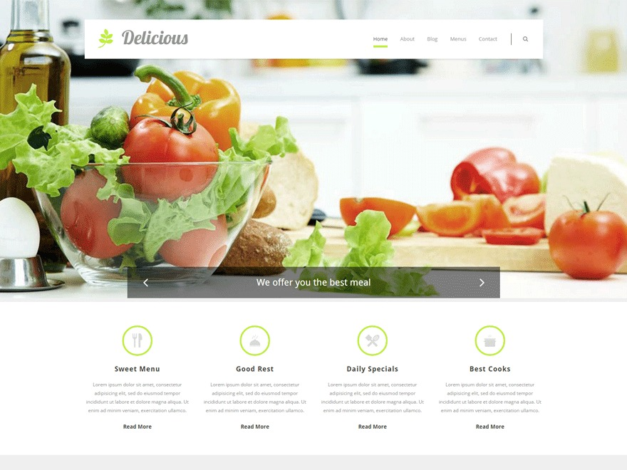 Delicious WordPress template for business