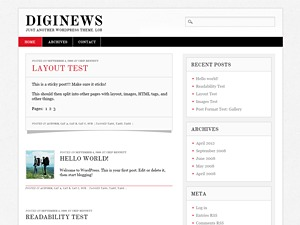 Diginews newspaper WordPress theme