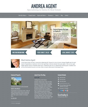 Dolores WordPress page template