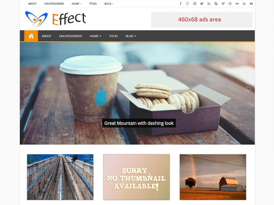 Effect template WordPress free