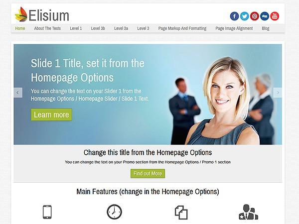 Elisium WordPress blog theme