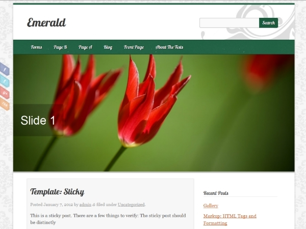 Emerald best WordPress theme