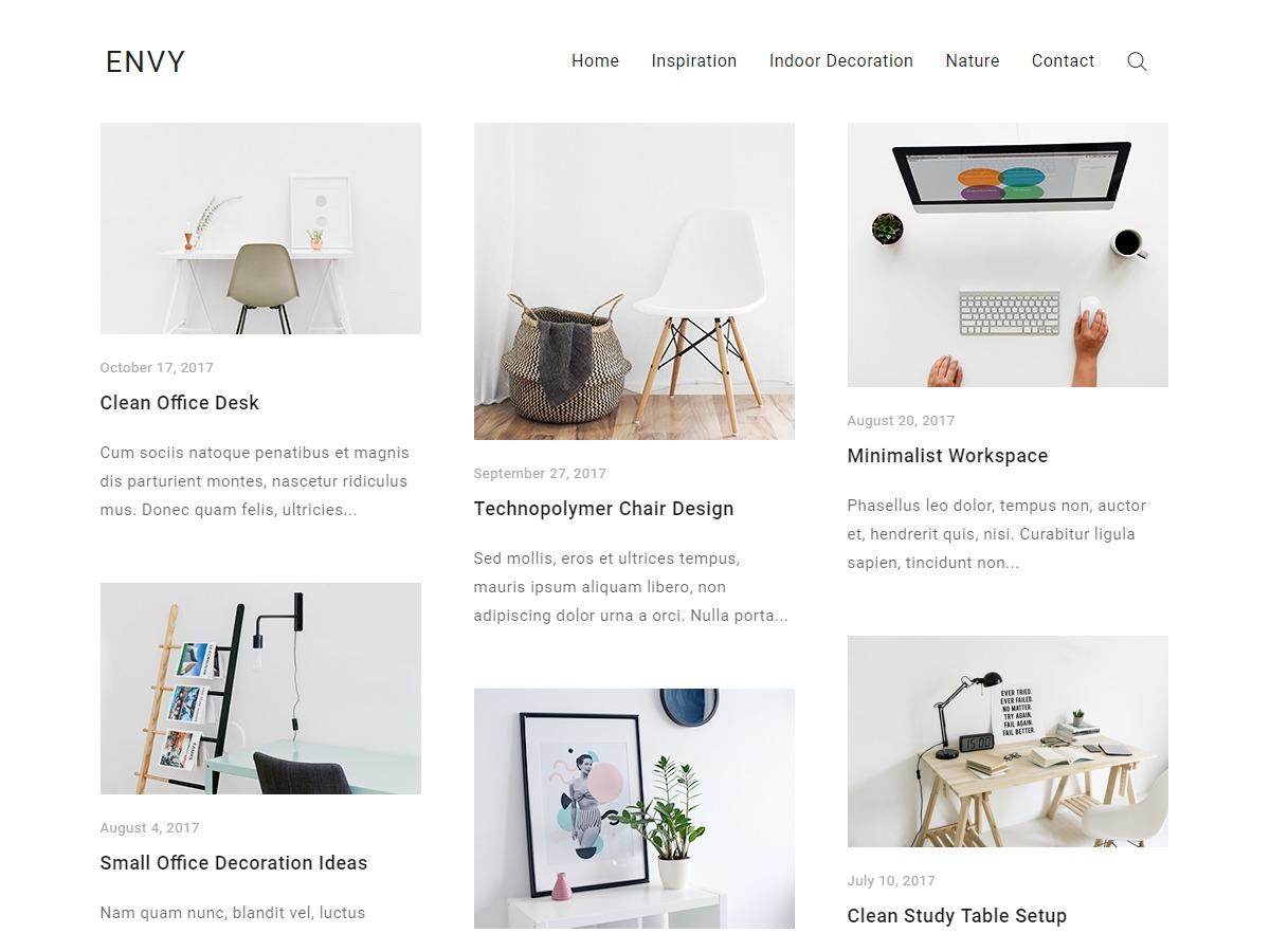 Envy Blog free WP theme