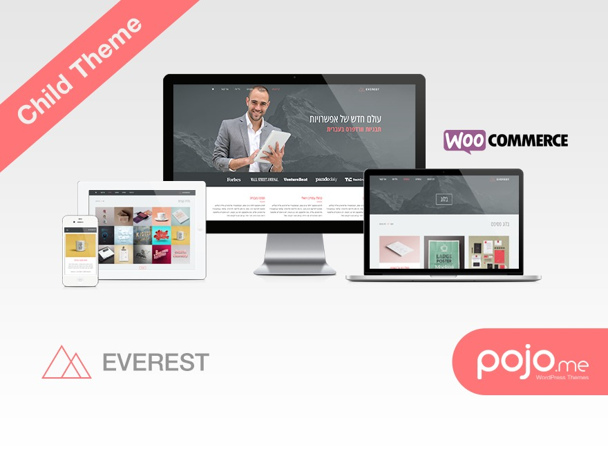 Everest Child WordPress theme