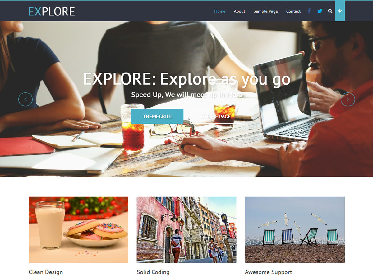 Explore WordPress template free download