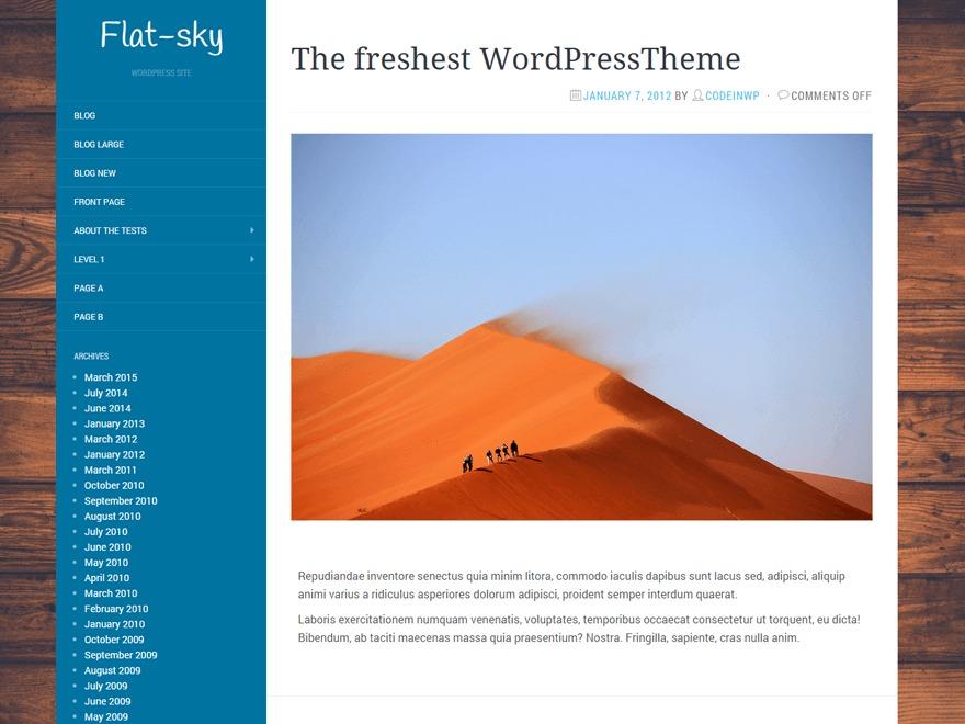 Flat-Sky newspaper WordPress theme