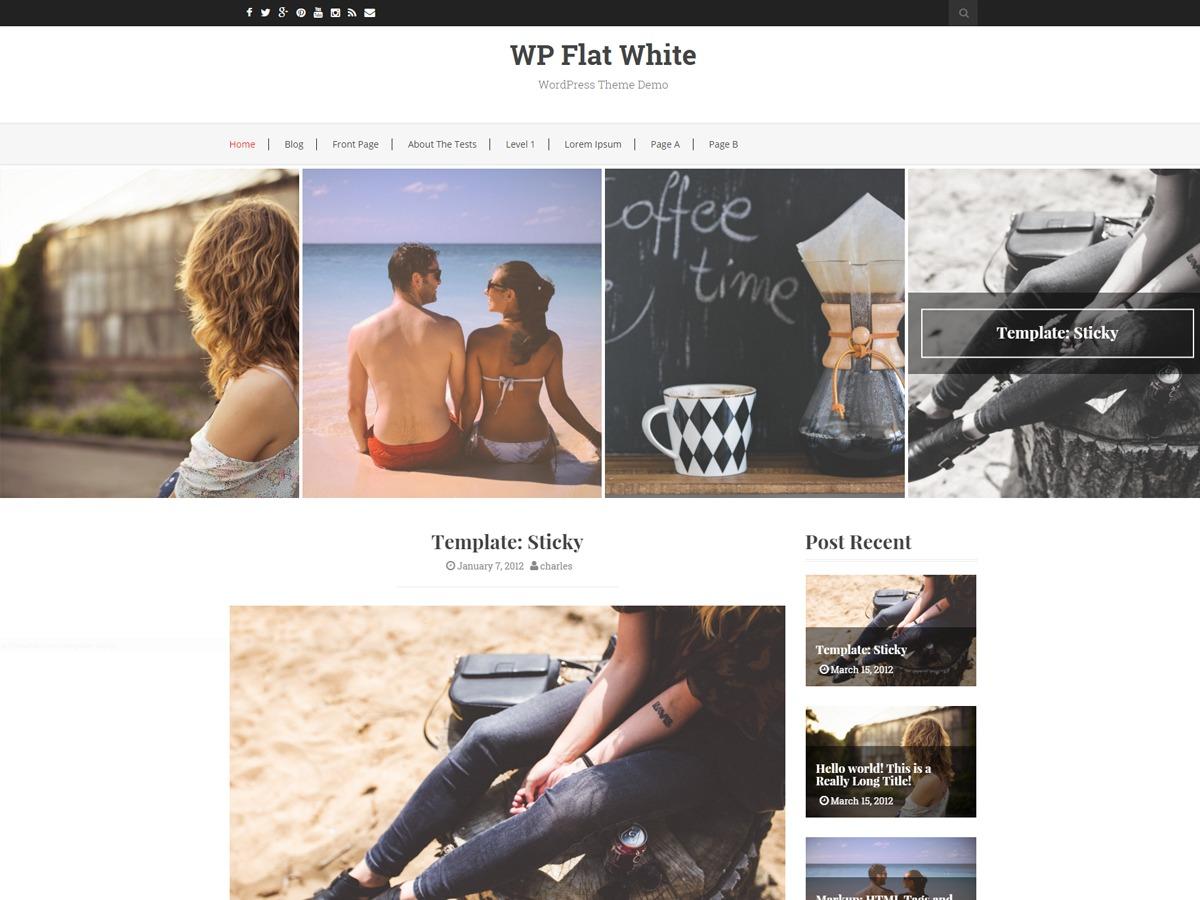 Flat White WordPress template free
