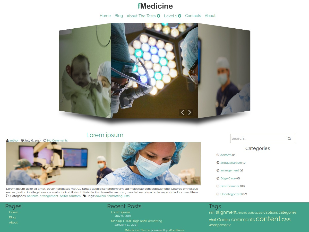 fMedicine best free WordPress theme