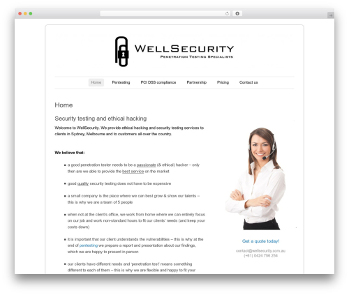 Forever WordPress theme - wellsecurity.com.au