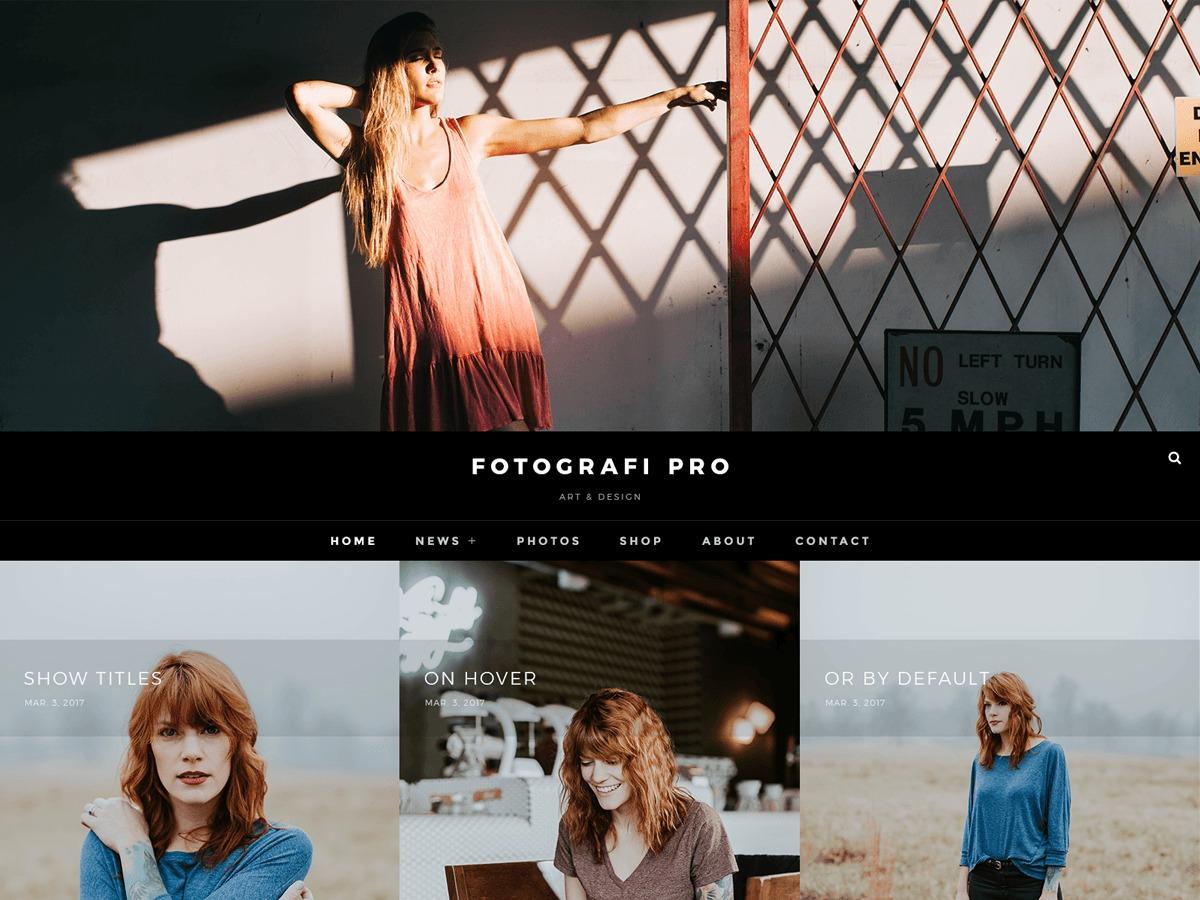 Fotografie Pro personal WordPress theme