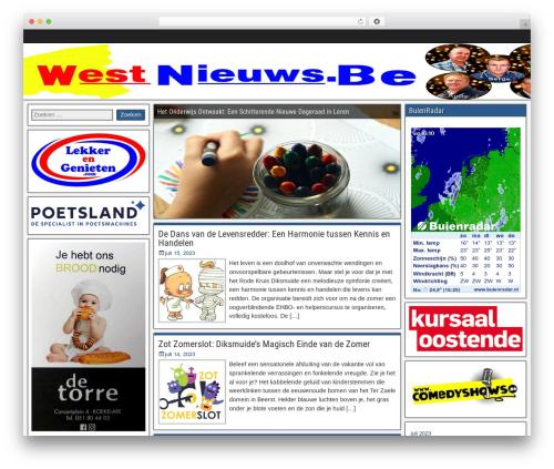 Frontier best free WordPress theme - westnieuws.be