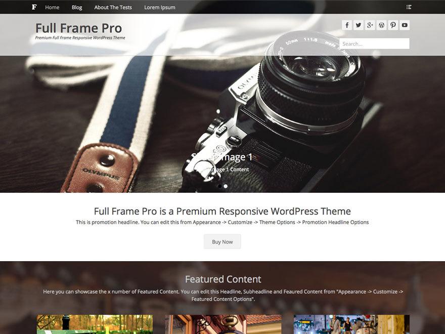 Full Frame Pro WordPress photo theme