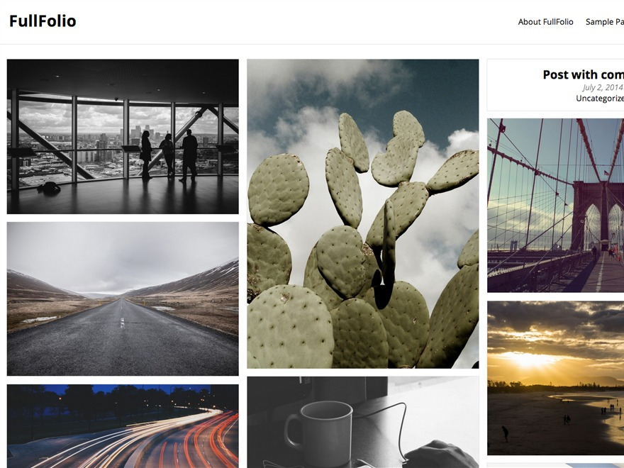 FullFolio WordPress portfolio theme