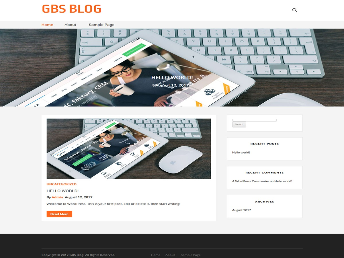 GBS Blog free website theme
