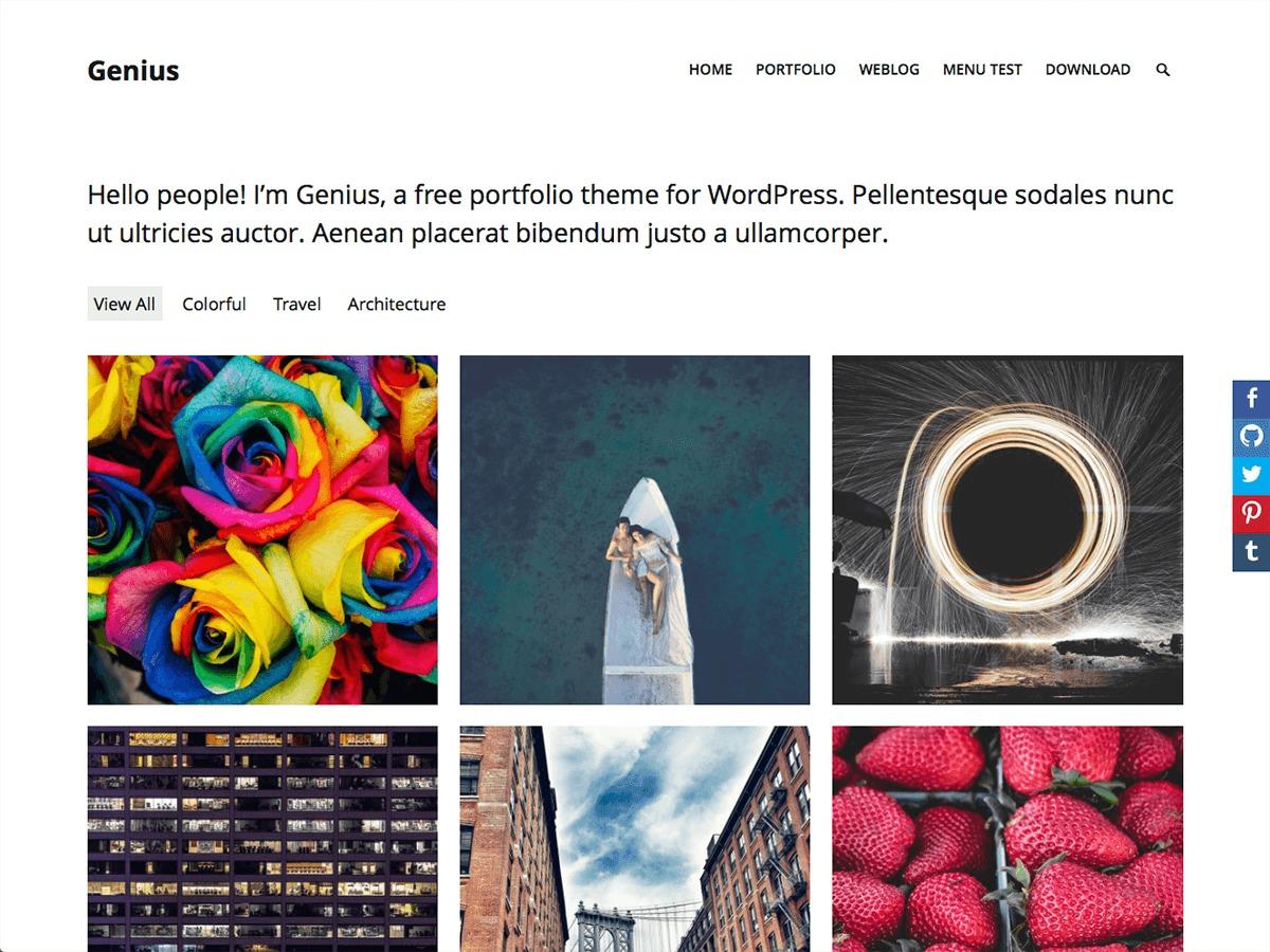 Genius WordPress template free download