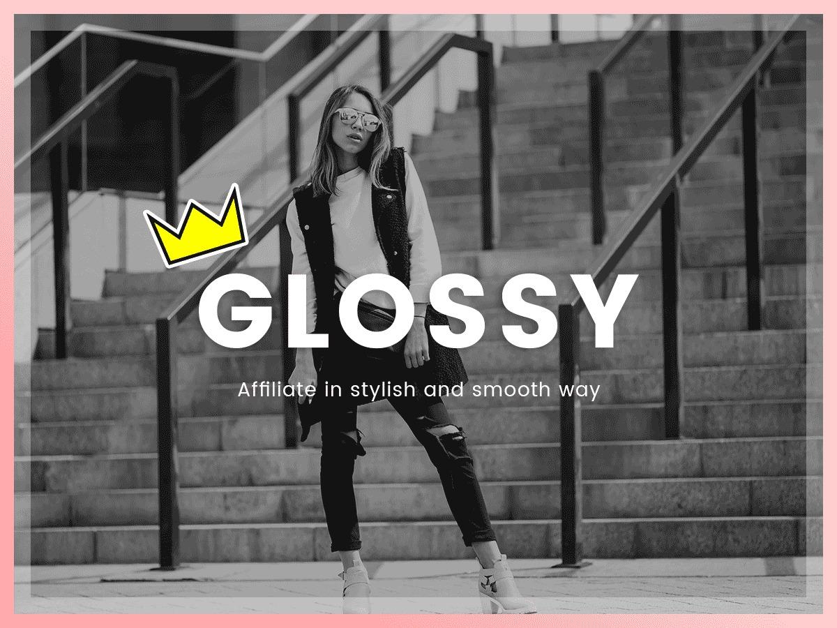 glossy WordPress blog template