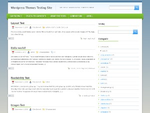 Green One best WordPress theme