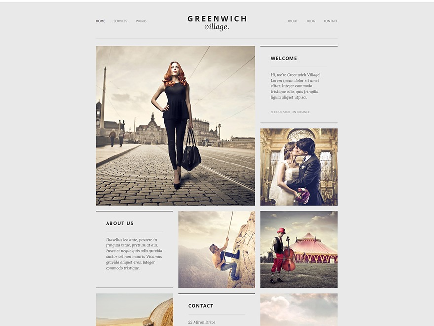 Greenwich Village WordPress theme