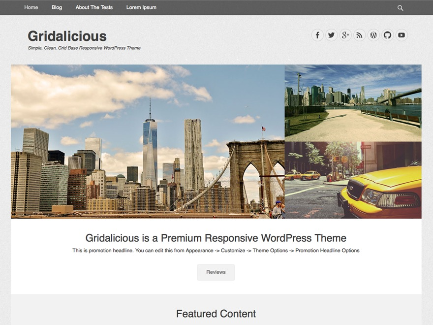 Gridalicious WordPress theme download