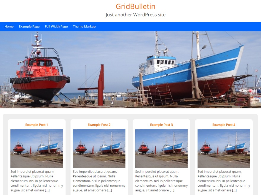 GridBulletin best free WordPress theme