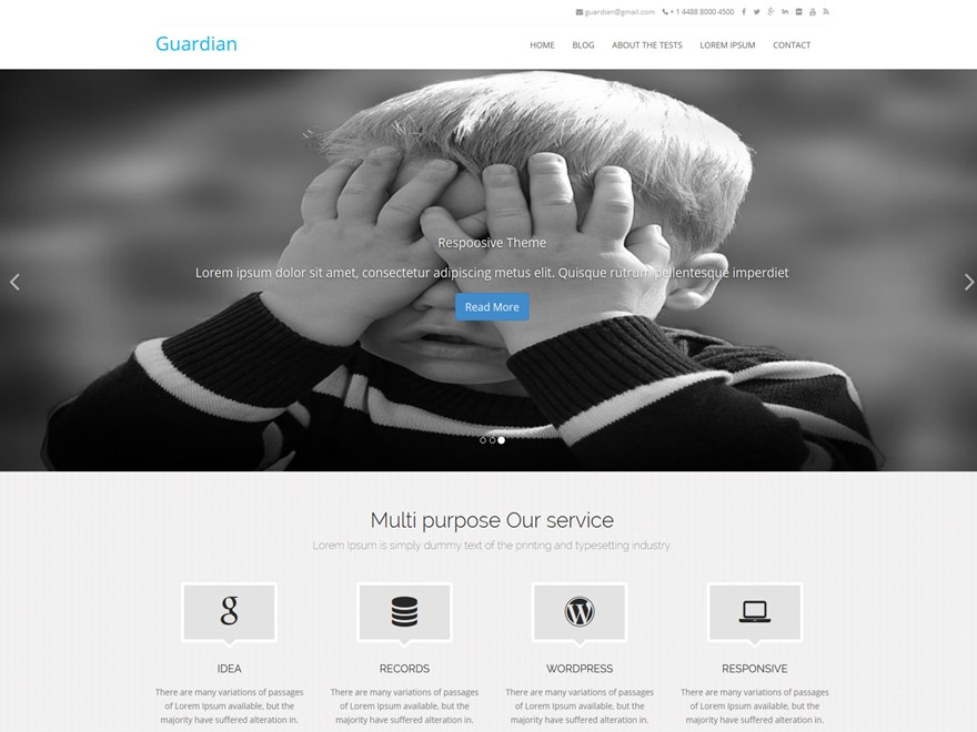 Guardian-Pro WordPress template for business