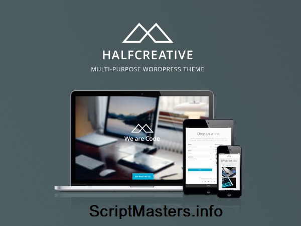 Halfcreative WordPress template