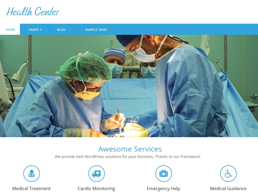 Health-Center-Lite free website theme