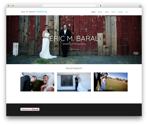 Hero best wedding WordPress theme - weddings.ericmbaral.com