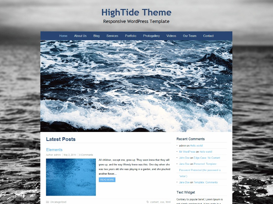 HighTide best WooCommerce theme