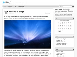 iBlog2 WordPress blog theme