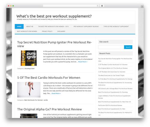 Iconic One WordPress theme - whatsthebestpreworkout.com