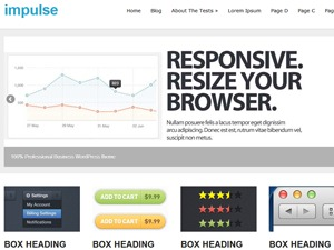 impulse company WordPress theme