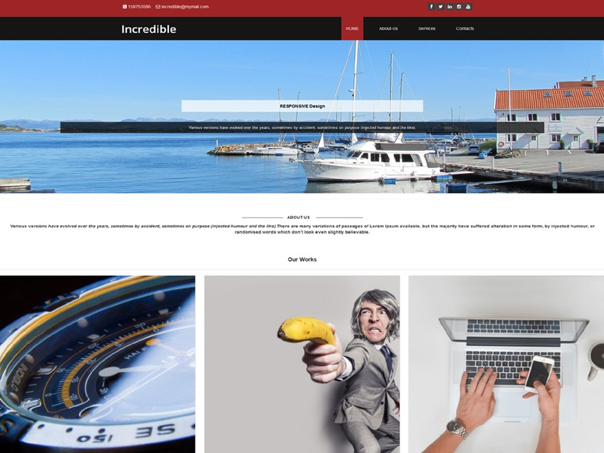 Incredible WordPress portfolio template