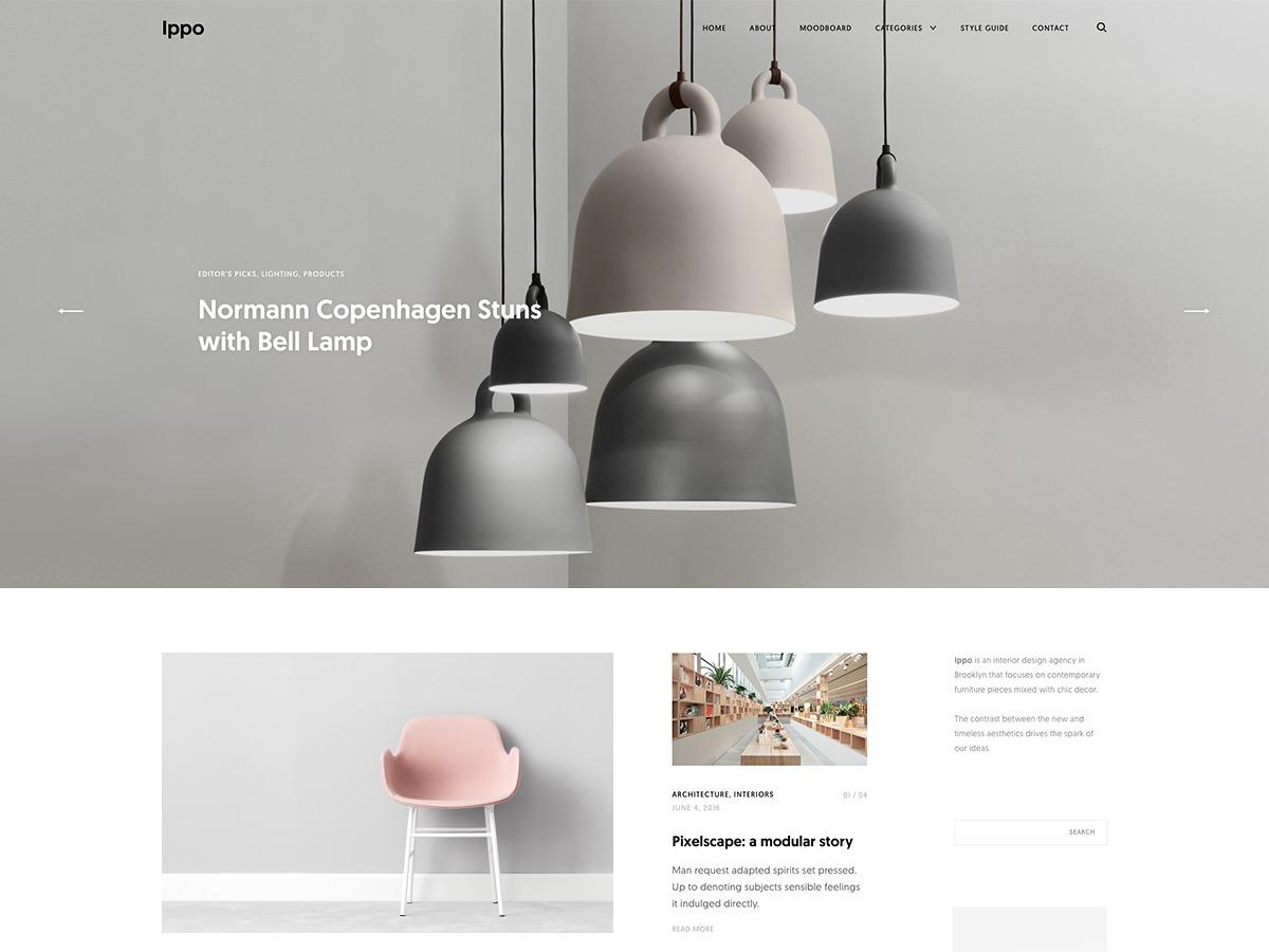 Ippo WordPress blog theme