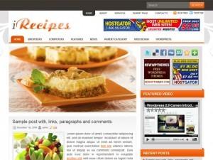 iRecipes WordPress theme