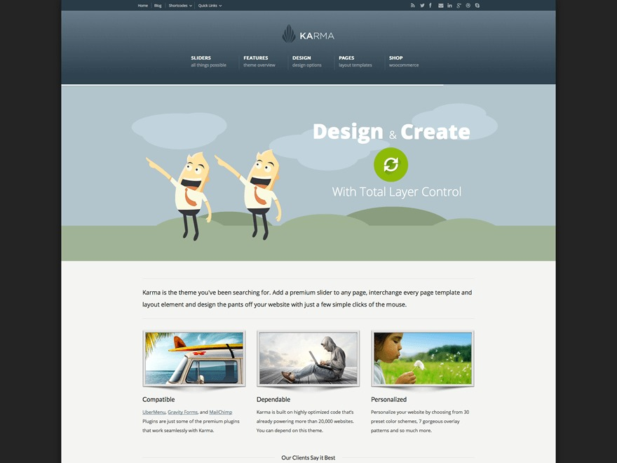 Karma (Share on Theme123.Net) WordPress website template