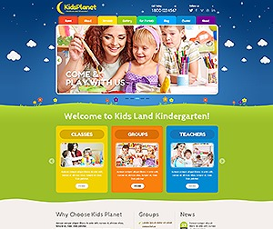 Kidsplanet template WordPress