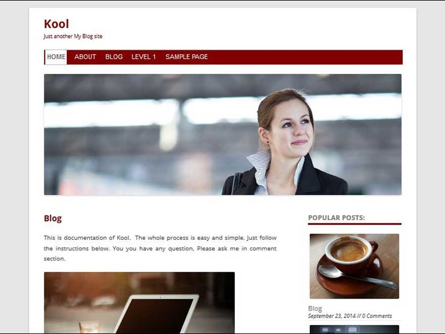 Kool WordPress blog theme