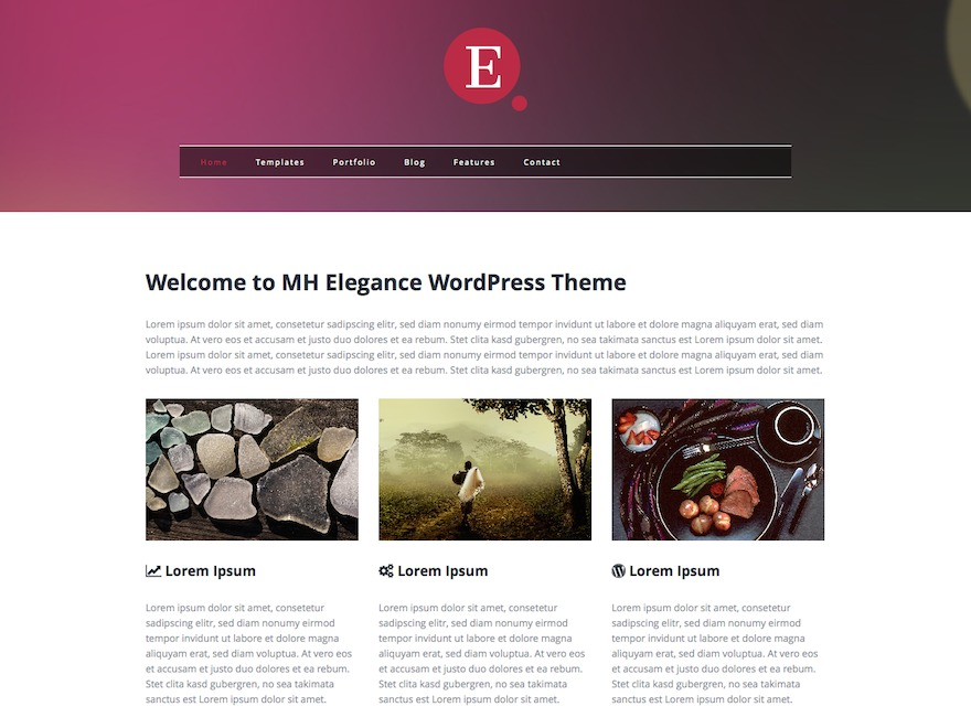 MH Elegance lite WordPress blog template