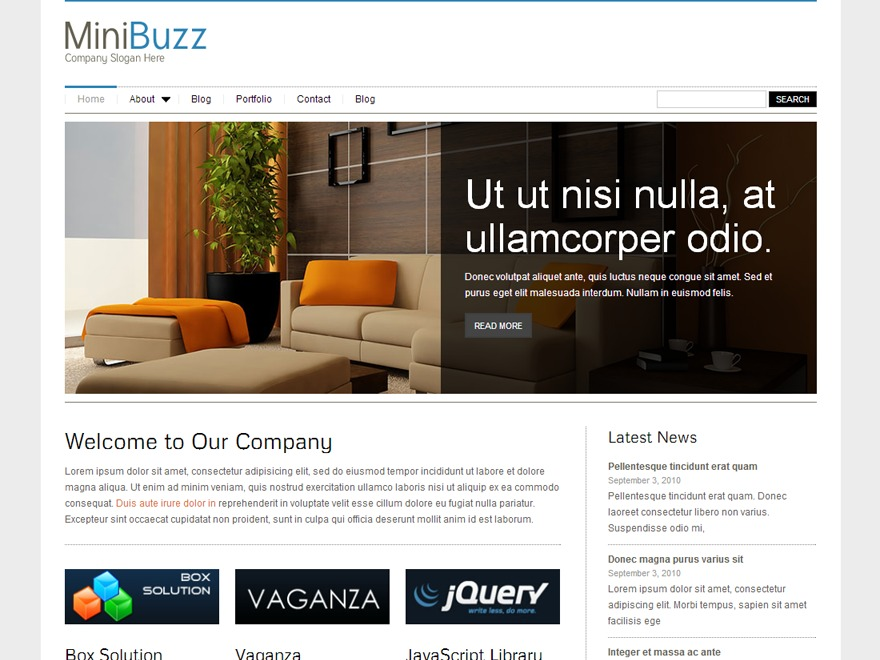 MiniBuzz WordPress portfolio theme