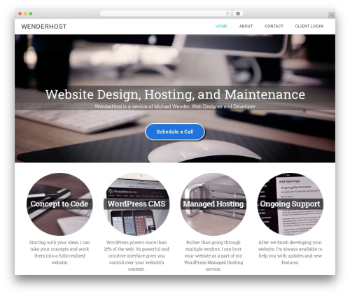 Minimum Pro Theme template WordPress - wenderhost.com